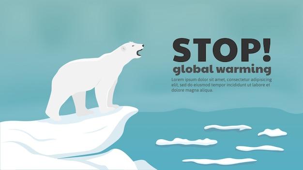 Белому медведю нужен морской лед, чтобы выжить