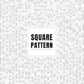 抽象的な白とグレーの正方形パターン背景テクスチャ