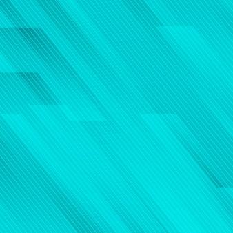 青いターコイズブルーのラインと抽象的な幾何学的な斜め