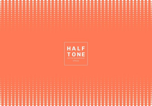 抽象的なドットハーフトーンデザインオレンジ色の背景