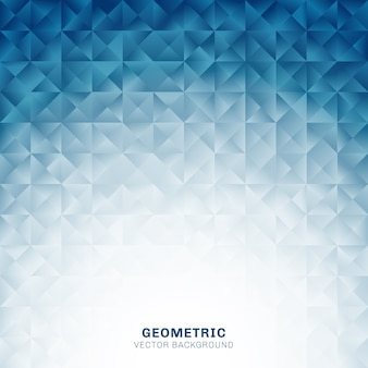 抽象的な幾何学的三角形模様の青い背景