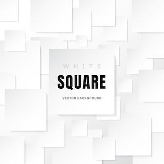ホワイトテンプレート紙の正方形の白い背景