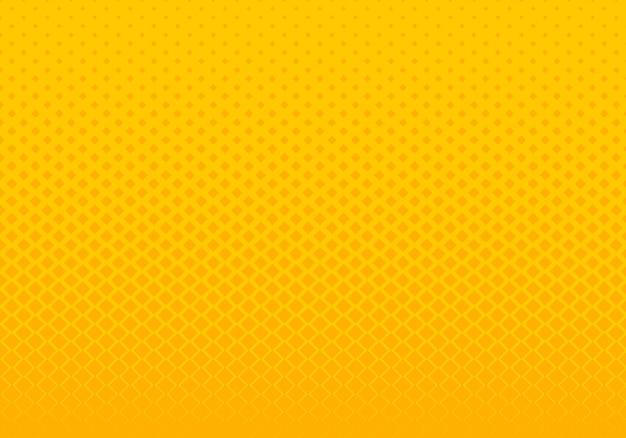抽象的なグラデーション黄色の正方形のパターンの背景