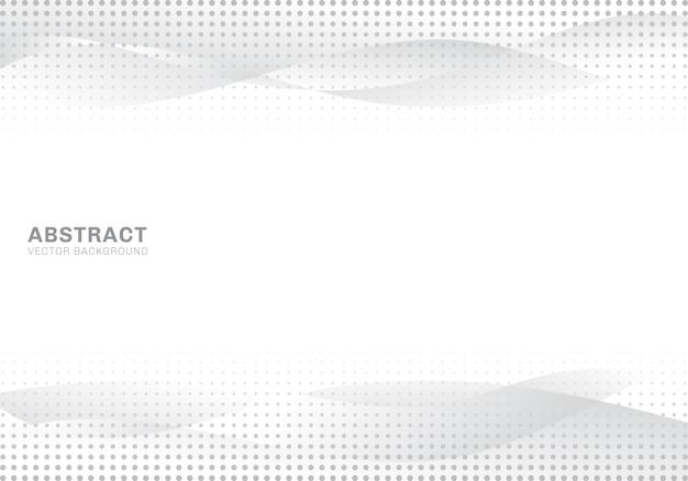抽象的な白とグレーの波ハーフトーンの背景