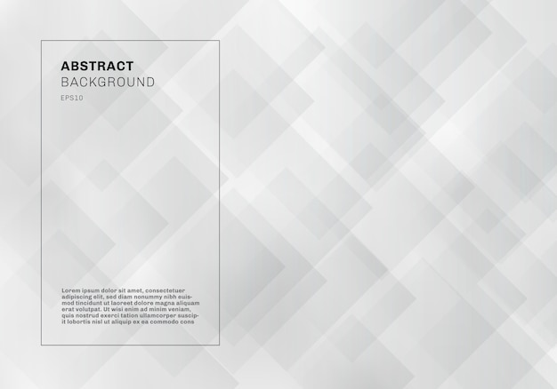 Абстрактные элегантные белые геометрические квадраты узор фона