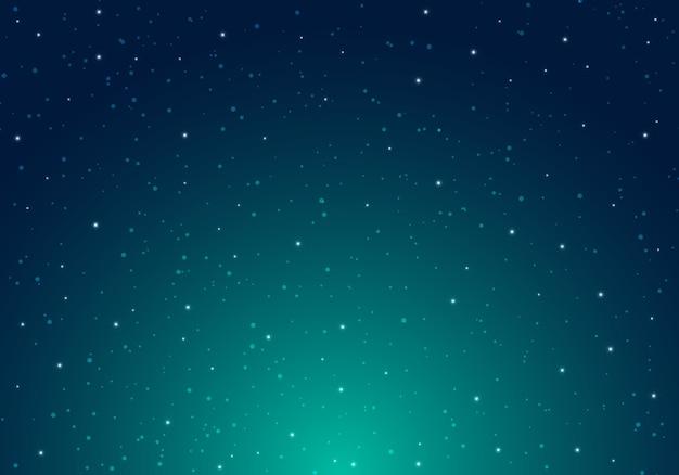 星空の背景を持つ夜輝く星空