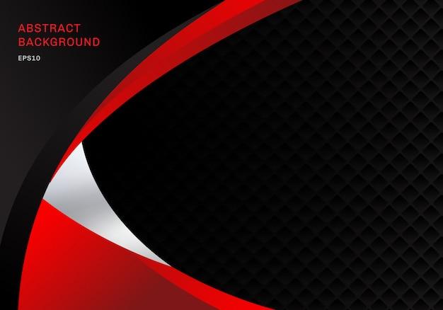 テンプレートの抽象的な赤と黒のビジネス背景