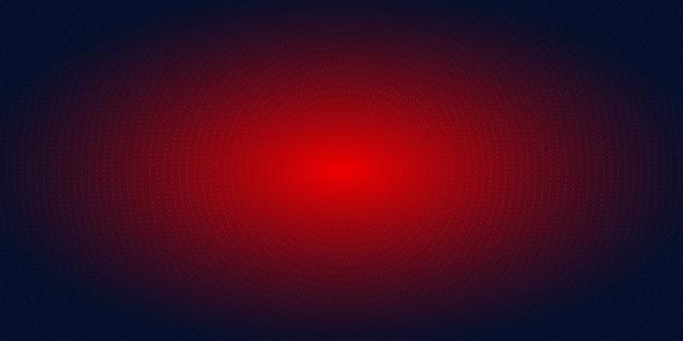 抽象的な赤い放射状ドットハーフトーンブルーの背景