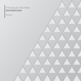Абстрактный серый треугольник узор на белом фоне