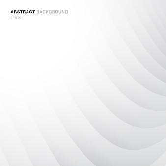 抽象的な曲線パターンの白と灰色の背景