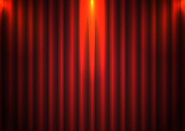 Фон красный занавес