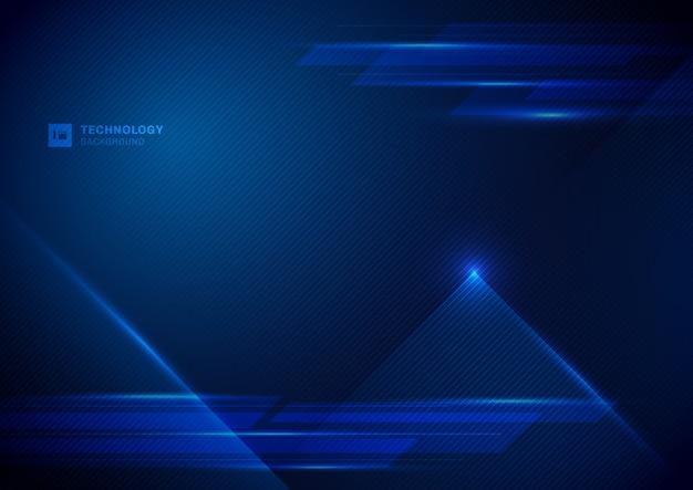 Абстрактные технологии цифровой синий фон.