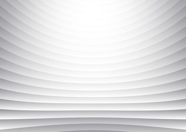 抽象的なストライプパターンの水平曲線線白と灰色の背景とテクスチャー。