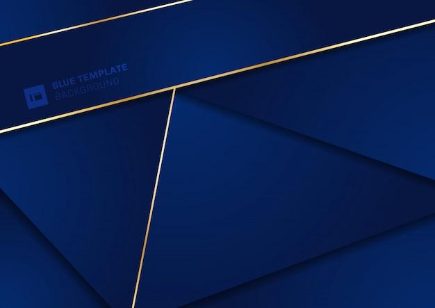 抽象的な現代的な青の幾何学的三角形の背景