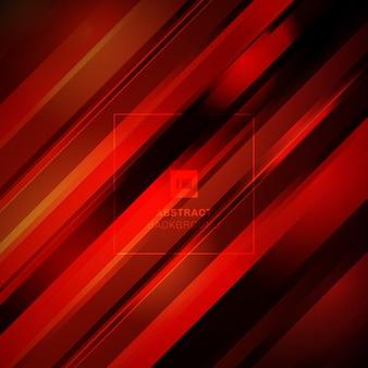 Абстрактная красная диагональная линия технологии черный фон.
