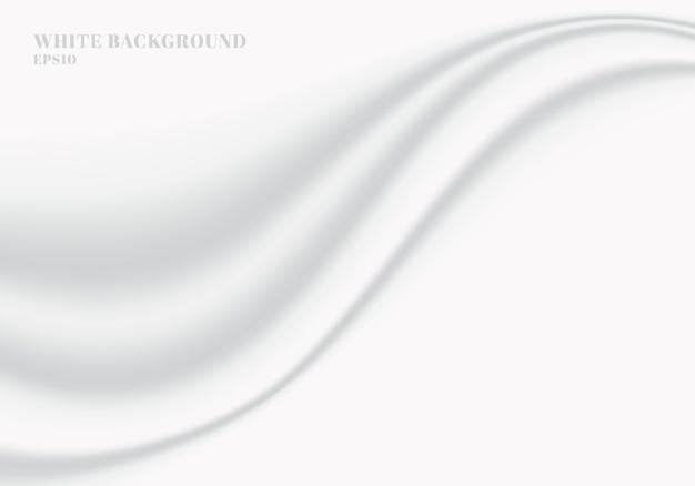 Абстрактная белая ткань гладкая мягкая волна фон и текстура