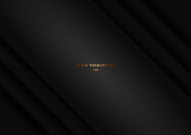 ストライプライン背景と抽象的な黒い光沢のあるレイヤーの対角線