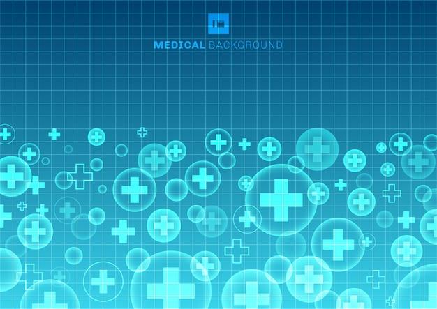 抽象的な幾何学的な医学の青い背景