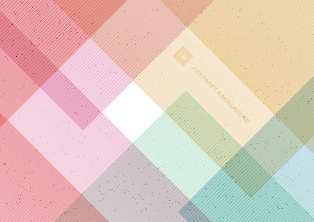 抽象的な幾何学的なパステルカラーの背景