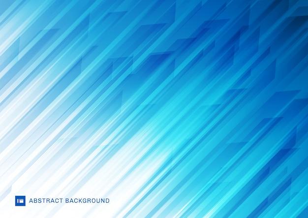 抽象的な現代的な斜めストライプライン青い背景