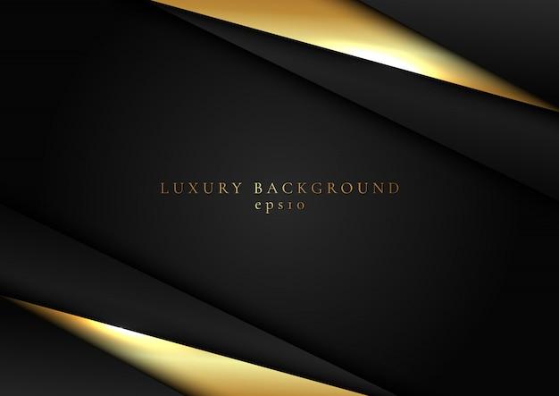 抽象的な黒とゴールドの三角形の暗い背景
