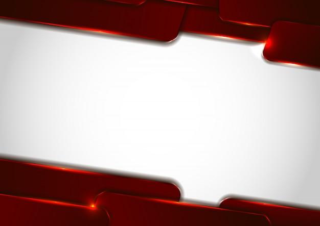 抽象的なテクノロジー赤の幾何学的な重なり合うレイヤー