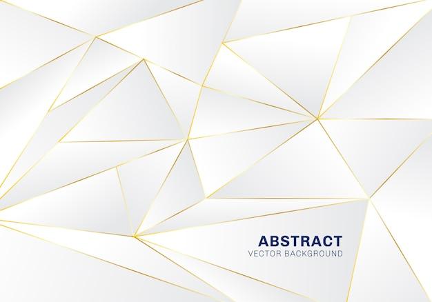 白い背景の上の抽象的な多角形パターンの贅沢