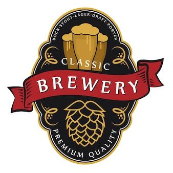 ビール醸造所のロゴ