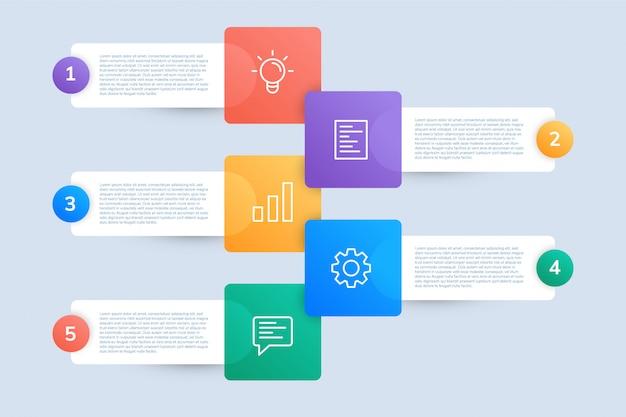 ビジネスプレゼンテーションのためのインフォグラフィックテンプレートデザイン