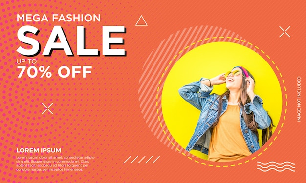 Шаблон баннерной продажи моды