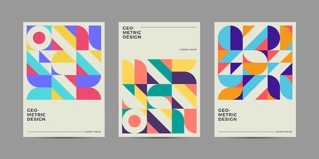 レトロな幾何学的なカバー