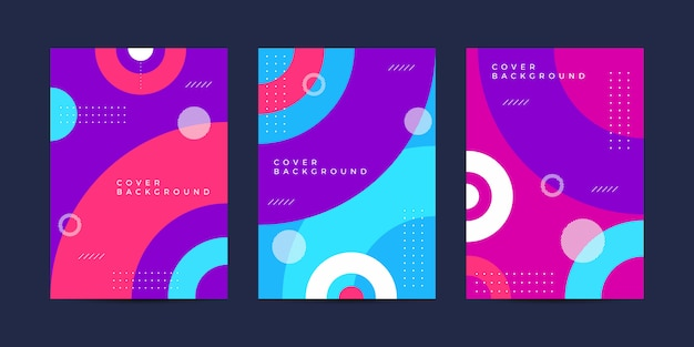 Красочный дизайн обложки фон