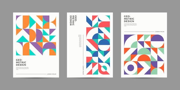 Коллекция ретро геометрических обложек