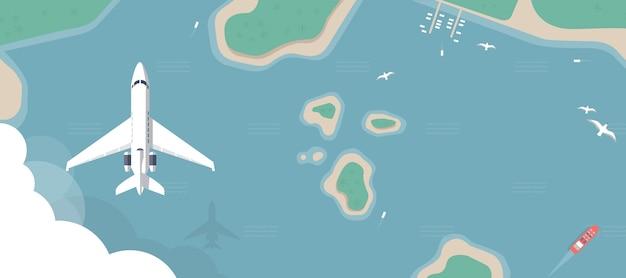 飛行機の図