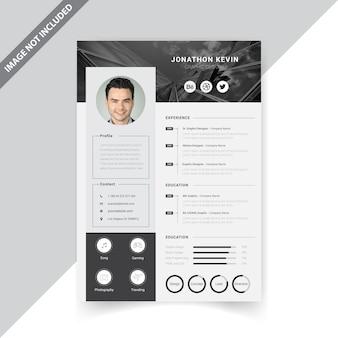 Креативный минимальный современный дизайн резюме