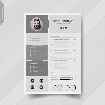 創造的なモダンな履歴書テンプレートデザイン