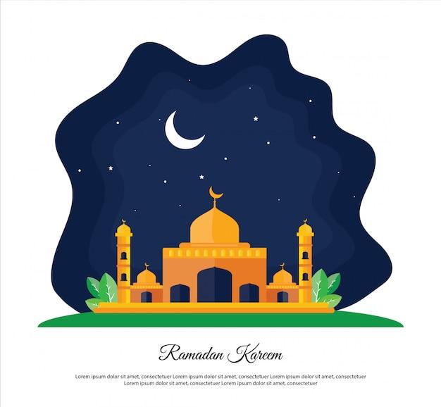 Концепция дизайна мечети рамадан