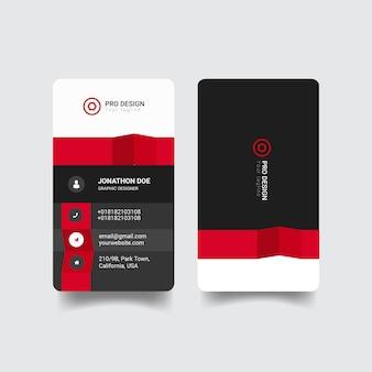 Креативный современный дизайн шаблона визитной карточки