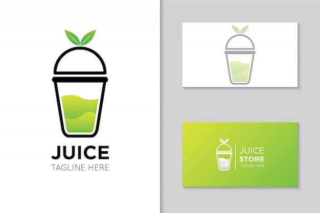ジュースのロゴとアイコンの図