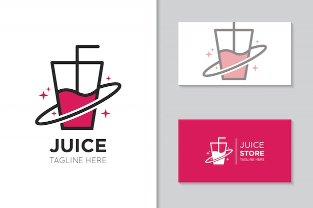 Сок логотип и значок иллюстрации