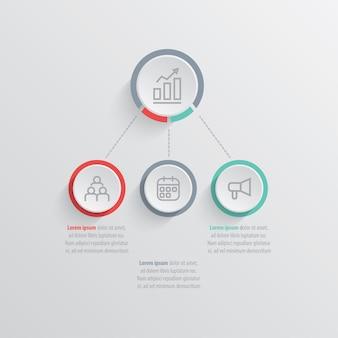 Презентационный бизнес-инфографический шаблон