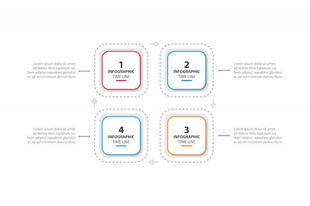 Красочный бизнес инфографики шаблон