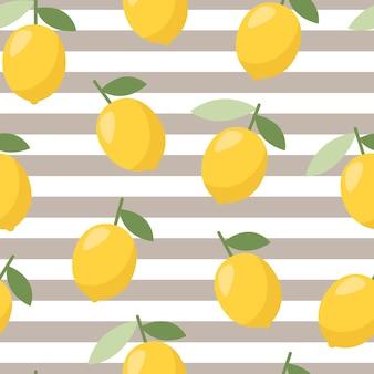 夏のレモンパターン