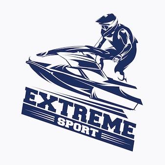 ジェットスキースポーツロゴベクトル