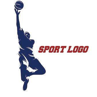 Человек баскетбол перейти действие иллюстрация логотип логотипа
