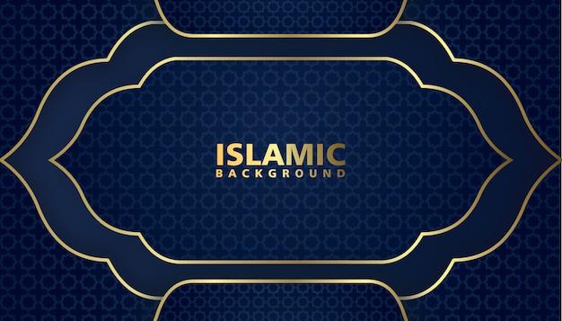 エレガントなデザインの豪華なイスラムの背景