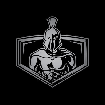 スパルタン戦士スポーツフィットネスロゴ