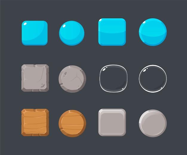 Набор различных кнопок.