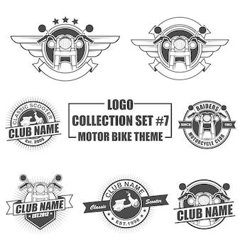 モーターバイクテーマ付きロゴコレクションセット