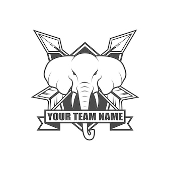ベクトルビンテージスタイルのロゴ
